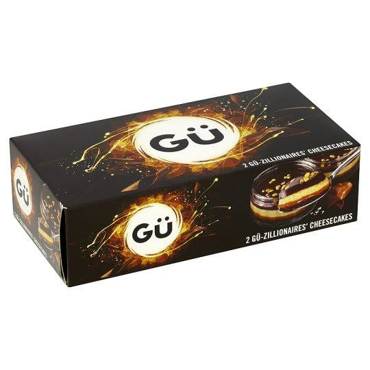 Grocery Delivery London - Gu Chocolate And Salted Caramel Cheesecake 2X91g same day delivery