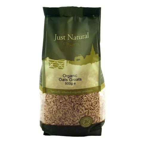 Grocemania Grocery Delivery London| Just Natural Organic Oats Groats 500g