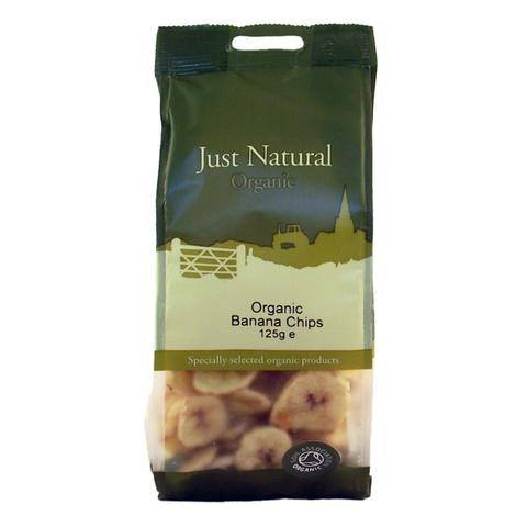 Grocemania Grocery Delivery London| Just Natural Organic Banana Chips 125g