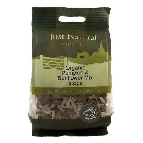 Grocemania Grocery Delivery London| Just Natural Organic Pumpkin & Sunflower Mix 250g