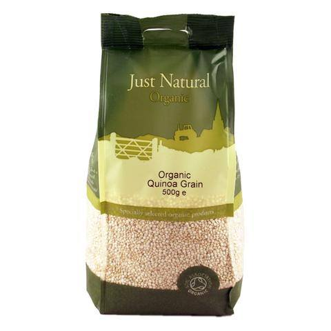 Grocemania Grocery Delivery London| Just Natural Organic Quinoa Grains 500g