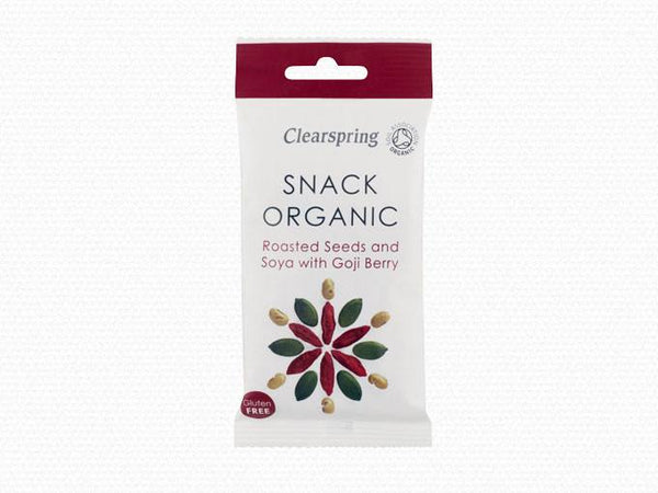 Grocemania Same Day Grocery Delivery London | Clearspring Roasted Seeds and Soya with Goji Berry 30g
