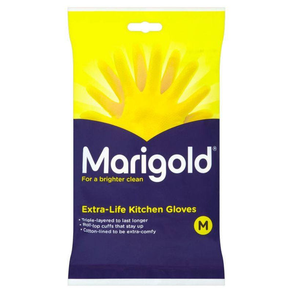 Grocemania Grocery Delivery London| Marigold Extra Life Kitchen Gloves Medium