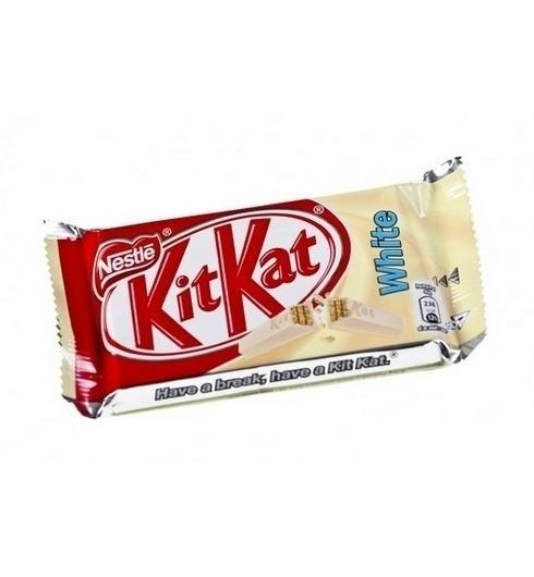 Grocery Delivery London - KitKat 4 Finger White Chocolate Bar 45g same day delivery