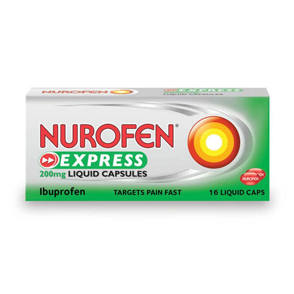 Grocemania Grocery Delivery London| Nurofen Express Ibuprofen Liquid Capsules 200mg