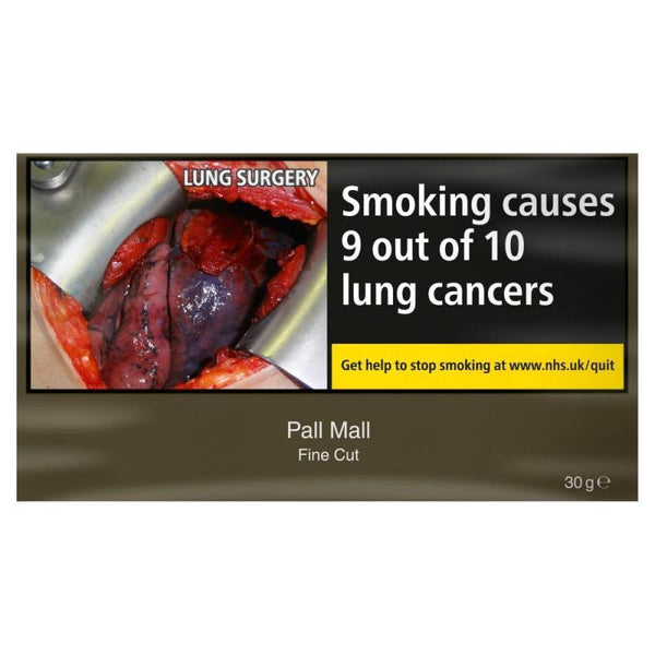 Grocemania Grocery Delivery London| Pall Mall Fine Cut Rolling Tobacco 30G