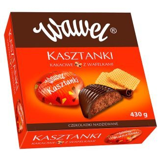 Grocery Delivery London - Wawel Kasztanki Kakaowe z Wafelkami 430g same day delivery