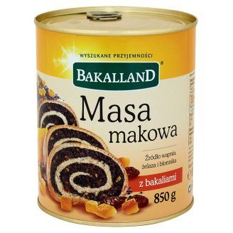 Grocery Delivery London - Bakalland Masa makowa 850 g same day delivery