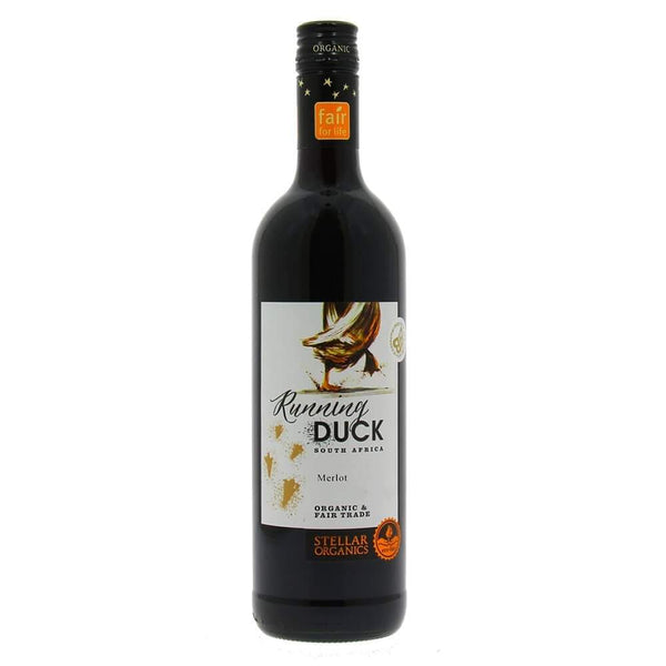 Grocery Delivery London - Stellar Organics Running Duck Merlot - South Africa 750ml same day delivery