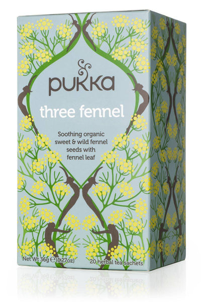 Grocemania Grocery Delivery London| Pukka Herbs Three Fennel Tea 20 sachets
