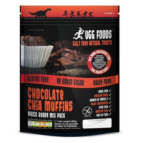 Grocemania Grocery Delivery London| Ugg Foods Chocolate Chia Muffins Mix