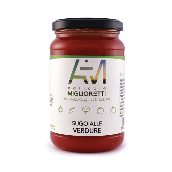 Grocery Delivery London - Miglioretti Vegetables Tomato Sauce 340g same day delivery