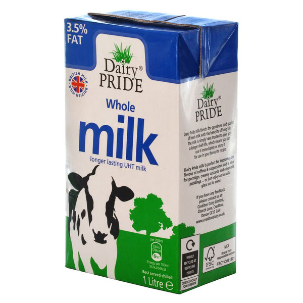 Grocery Delivery London - Dairy Pride UHT Long Life Whole Milk 1L same day delivery