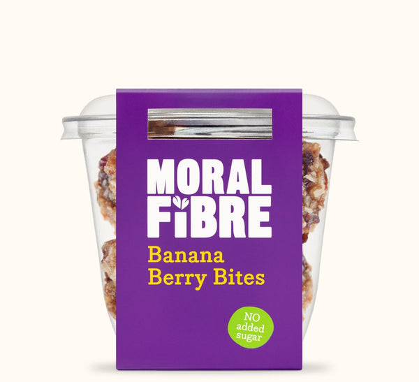 Grocemania Grocery Delivery London| Moral Fibre Banana Berry Bites 30g