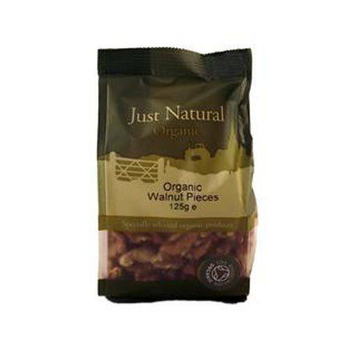 Grocery Delivery London - Just Natural Organic Walnut Pieces 250g same day delivery