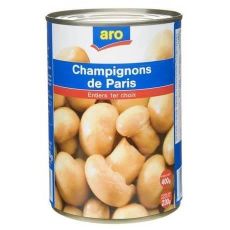 Grocemania Grocery Delivery London| ARO Champignons de paris (mushrooms) 400g