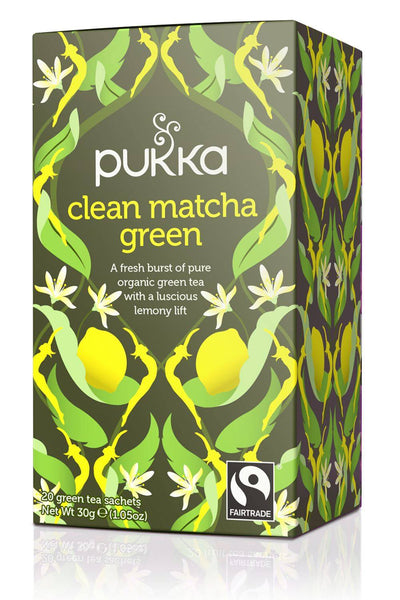 Grocery Delivery London - Pukka Clean Matcha Green Tea 20 sachets same day delivery