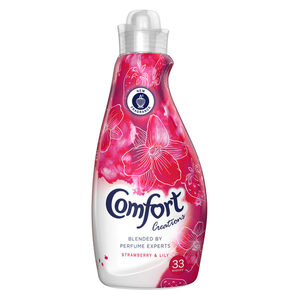 Grocery Delivery London - Comfort Creations Strawberry Fabric Conditioner 33 Wash 1.16L same day delivery