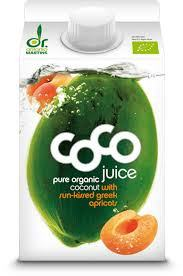 Grocery Delivery London - Dr. Martins Organic Coco Juice with Apricot 330ml same day delivery