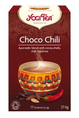 Grocery Delivery London - Yoga Tea Choco Chili 17 bags same day delivery