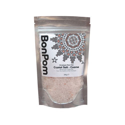 Grocemania Grocery Delivery London| BonPom Himalayan Pink Salt Coarse 200g