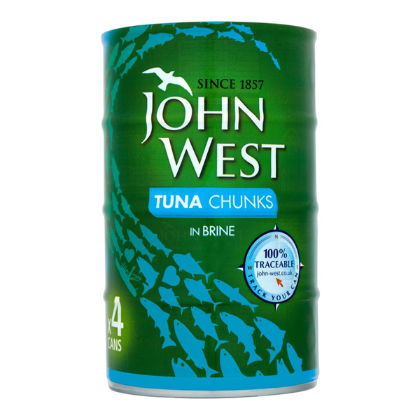 Grocery Delivery London - John West Tune Chunks In Brine 145g 4pk same day delivery