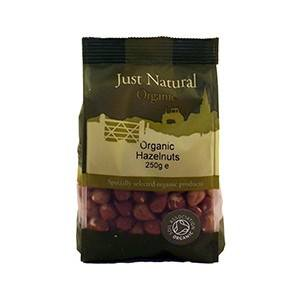 Grocery Delivery London - Just Natural Organic Hazelnuts 250g same day delivery