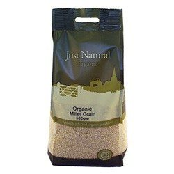 Grocery Delivery London - Just Natural Organic Millet Grain 500g same day delivery
