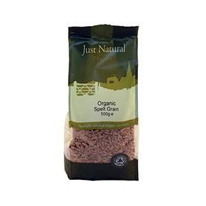 Grocery Delivery London - Just Natural Organic Spelt Grain 500g same day delivery