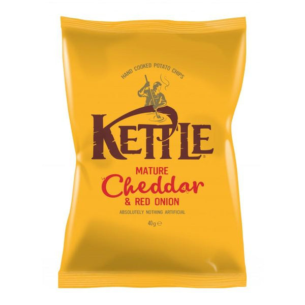 Grocery Delivery London - Kettle Cheddar & Red Onion 40g same day delivery