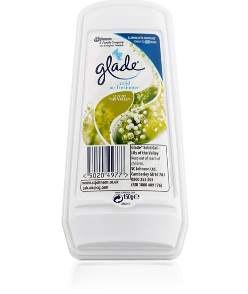 Grocery Delivery London - Glade Solid Air Freshner Gel - Lily Of The Valley 150g same day delivery
