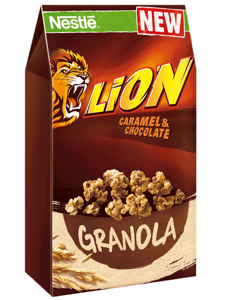 Grocemania Grocery Delivery London| Lion -  Caramel and Chocolate Granola Cereal
