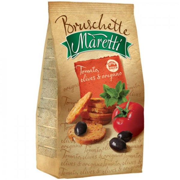 Grocemania Grocery Delivery London| Bruschette Maretti Tomato, Olives & Oregano