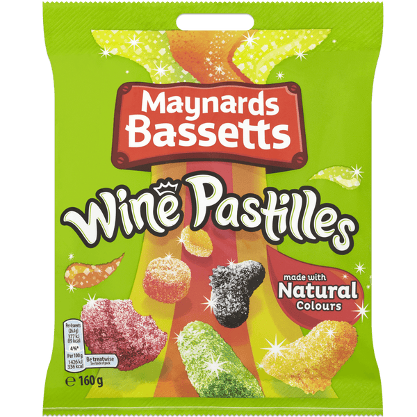 Grocemania Grocery Delivery London| Maynards Bassets Wine Pastilles 160g