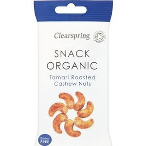Grocemania Grocery Delivery London| Clearspring Tamari Roasted Cashew Nuts 30g