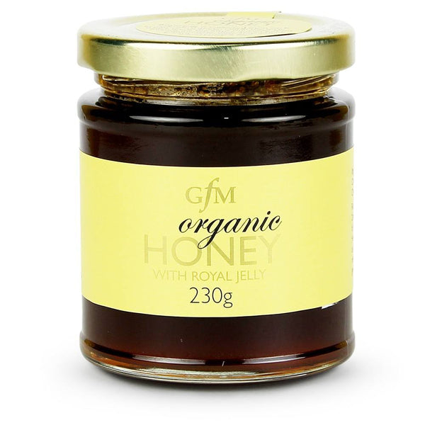 Grocery Delivery London - GFM Organic Honey with Royal Jelly 230g same day delivery