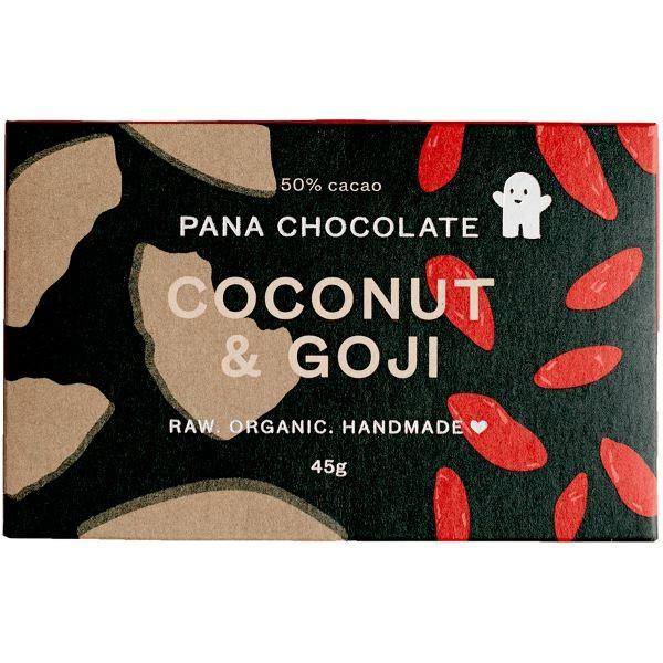 Grocemania | Organic Pana chocolate Coconut and Goji 45g | Online Grocery Delivery London