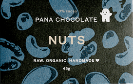 Grocemania | Organic Pana Chocolate - Nuts with Chocolate 45g | Online Grocery Delivery London