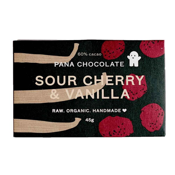Grocery Delivery London - Organic Pana Chocolate - Sour Cherry with Vanilla 45g same day delivery