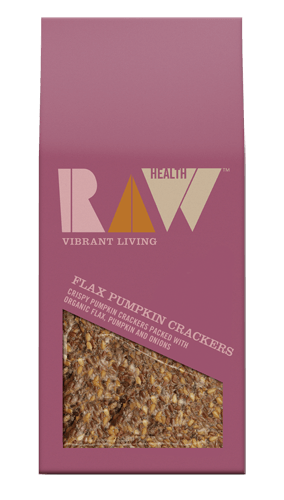 Grocemania Grocery Delivery London| Raw Health Crackers Flax Pumpkin