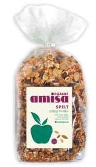Grocery Delivery London - Amisa Organic Spelt Crispy Muesli 500g same day delivery
