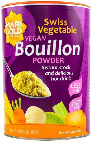 Grocery Delivery London - Marigold Vegan Bouillon Powder Less Salt 1kg same day delivery