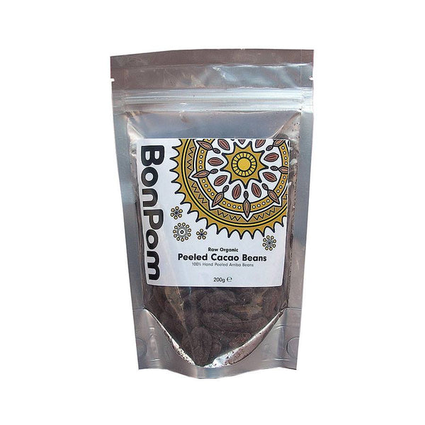 Grocery Delivery London - BonPom Organic Peeled Cacao Beans 200g same day delivery