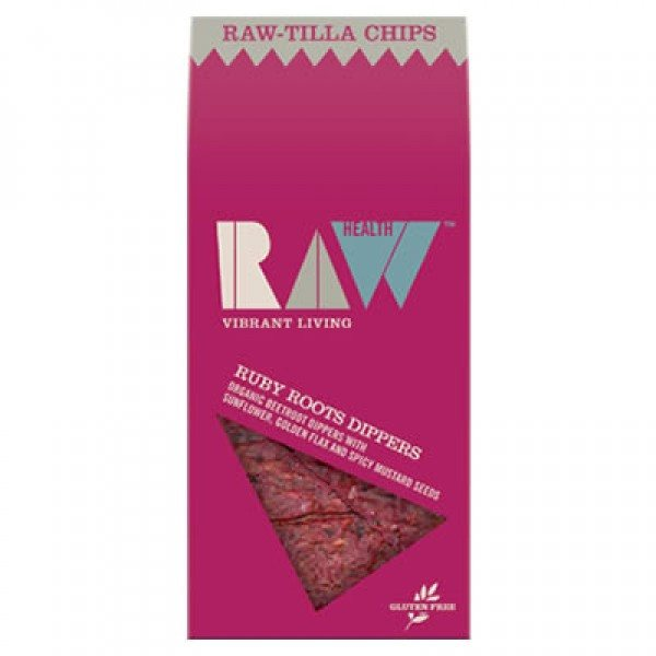 Grocemania Grocery Delivery London| Raw Health Raw-Tilla Dippers Ruby 85g