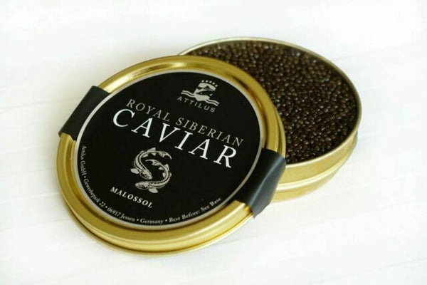 Grocery Delivery London - Siberian Sturgeon Caviar (Acipenser Baerii) 250g same day delivery