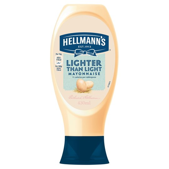 Grocery Delivery London - Hellmann's Lighter Than Light Mayonnaise 430ml same day delivery