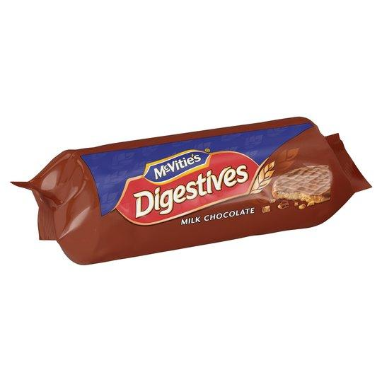 Grocery Delivery London - McVities Digestives Milk Chocolate 266g same day delivery
