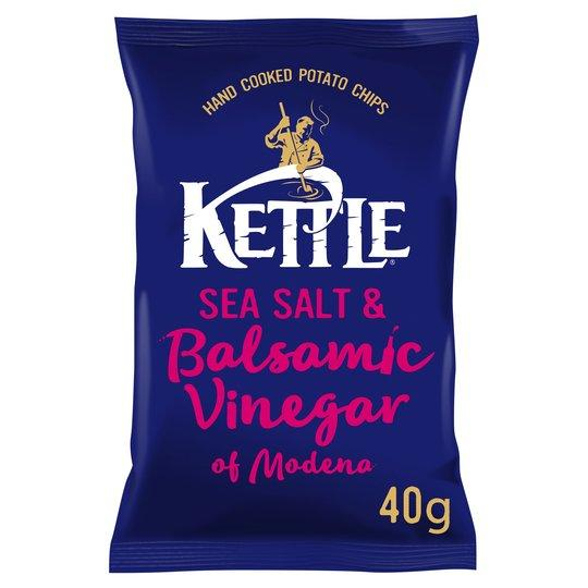 Grocery Delivery London - Kettle Sea Salt & Balsamic Vinegar 40g same day delivery