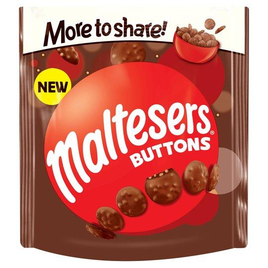 Grocery Delivery London - Malteser Buttons Bag 159g same day delivery