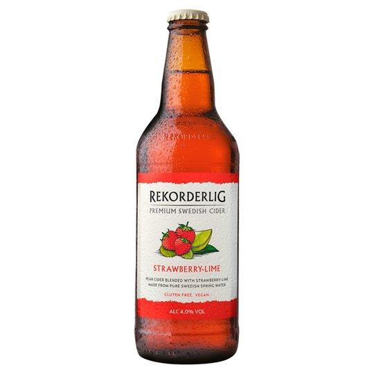 Grocery Delivery London - Rekorderlig Strawberry Lime Cider 500ml same day delivery